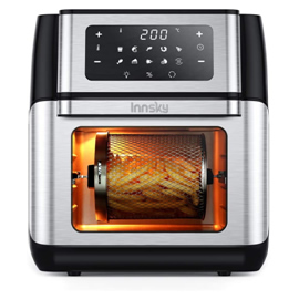 Innsky Friggitrice ad aria 10L, Forno ad aria calda 10 in 1 con Touch Screen a LED digitale